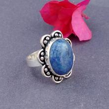 BLUE LAPIS Cabochon Ring -Size 8.0 Ring - 925 Sterling Silver Ring - LAPIS Gemstone Ring - Vintage RingBLUE LAPIS Cabochon Ring -Size 8.0 Ring - 925 Sterling Silver Ring - LAPIS Gemstone Ring - Vintage Ring
