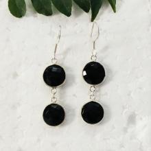 Beautiful BLACK ONYX Gemstone Earrings, Birthstone Earrings, 925 Sterling Silver Earrings, Fashion Handmade Earrings, Dangle Earrings