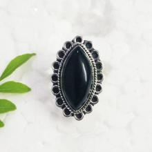 Beautiful BLACK ONYX Gemstone Ring, Birthstone Ring, 925 Sterling Silver Ring, Fashion Ring, Artisan Handmade Ring, All Size, Gift Ring