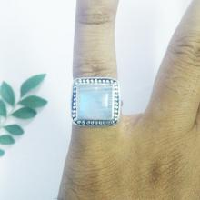 Beautiful FIRE RAINBOW MOONSTONE Gemstone Ring - Birthstone Ring - 925 Silver Ring - Artisan Handmade Ring - Fashion Beach Ring