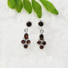 Beautiful NATURAL GARNET Gemstone Earrings, Birthstone Earrings, 925 Sterling Silver Earrings, Handmade Fashion Earrings, Drop Earrings