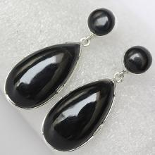 Black Onyx Earring , It Can Help Release Negative Emotions Such As Sorrow And Grief, Solid Sterling Silver Gemstone