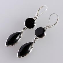 Black Onyx Earring Solid Sterling Silver Gemstone