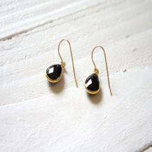 Black Onyx Earrings  Black Gemstone Earrings Gift