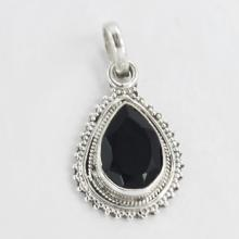 Black onyx Stone Pendant, Onyx Pendant, Necklace, Stone Pendant,Silver Pendant Necklace,Black onyx,Beautiful Pendant,Genuine onyx 2