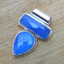 Blue Chalcedony Pendant, 925 Silver Pendant, Gemstone Pendant, Handmade Pendant, Blue Stone Pendant, Women Pendant, Unique Stone Pendant