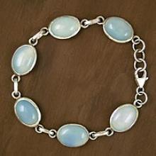 Blue Chalcedony bracelets