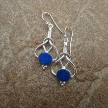 Blue Lapis Lazuli Earrings , Lapis Silver Earrings , Handmade Gemstone Earrings , Lapis Lazuli Jewelry