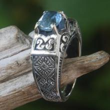 Blue Topaz Ring Sterling Silver