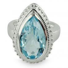 Blue Topaz Ring, 'Princess Tear'