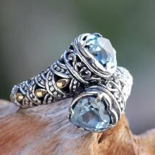 Blue Topaz on Sterling Silver Ring