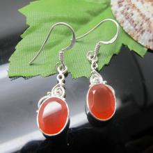 Carnelian Earrings, Sterling Silver Earrings, Gemstone Earrings