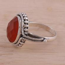 Carnelian Ring Sterling Silver Jewelry