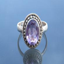 Charming Amethyst Ring, Purple Gemstone Ring, Sterling silver Ring