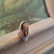 Citrine Ring Boho Ring Gemstone Ring Statement Ring Ring Cocktail Ring Teardrop Filigree Ring 925 Ring