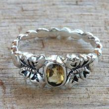 Citrine Sterling Silver Butterfly Cocktail Ring