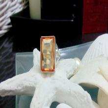 Citrine ring,Statement ring,November birthstone,gemstone ring,14k gold filled ring,rectangle ring,bridal ring