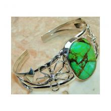 Copper Green Truquoise Bangle 925 Sterling Silver