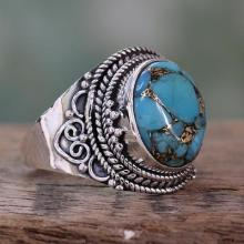 Fair Trade Ring with Composite Turquoise