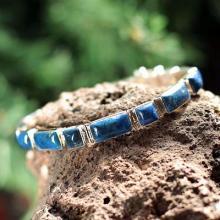 Fair Trade Sterling Silver Wristband Lapis Lazuli Bracelet