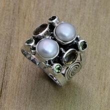 Fair Trade Sterling Silver and Pearl Ring