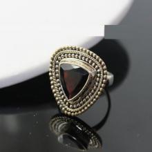 Garnet Ring, Sterling Silver Ring , Gemstone Ring