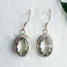 Genuine NATURAL GREEN AMETHYST Gemstone Earrings, Birthstone Earrings, Fashion Beach Earrings, Handmade Earrings, Dangle Earrings, Love Gift
