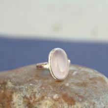 Genuine ROSE QUARTZ 925 Sterling Silver Solid Handmade Ring