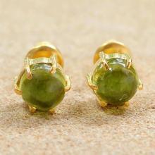 Gold Plated Peridot Stud Earrings