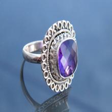 Gorgeous Designer Gemstone Ring, 925 Sterling Silver Handmade Ring