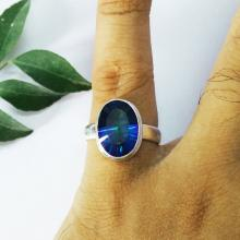 Gorgeous MIDNIGHT MYSTIC TOPAZ Gemstone Ring, Birthstone Ring, 925 Sterling Silver Ring, Fashion Ring, Artisan Handmade Ring