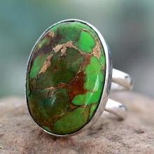 Green Composite Turquoise Sterling Silver Ring