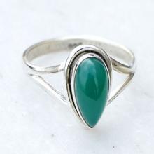 Green Stone Ring, Stone Ring, Green Stone Silver Ring, Silver Ring, Green Stone Ring, Sterling Silver Ring.