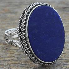 Hand Made Blue Oval Lapis Lazuli  Ring