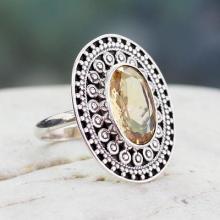 Hand Made Dramatic Citrine Ring