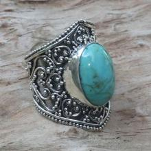 Hand Made Sterling Silver Turquoise Ring