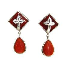 Handcrafted Balinese Carnelian Earrings, 'Sunset in Kuta'