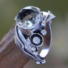 Handcrafted Prasiolite Ring