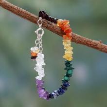 Handmade Beaded Gemstone Chakra Bracelet