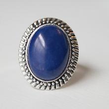 Handmade Lapis Blue Ring Blue Howlite Ring Blue Gemstone Ring Blue Stone Ring Adjustable Blue Ring Blue Silver Ring