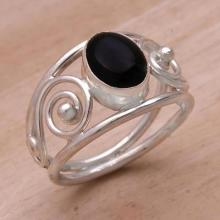 Handmade Sterling Silver and Onyx Ring