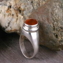 Hessonite Ring, Silver Ring, Tribal Ring, Ethnic Jewelry, Mineral & Stone Ring, India, Statement Ring, Gemstone Ring
