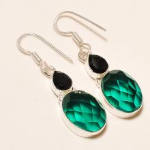 Hydro In Handmade Silver Gemstone Earrings - Checker Board Earrings - Dangle Earrings