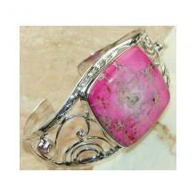 Jasper, Pink Topaz Bangle 925 Sterling Silver.jpg