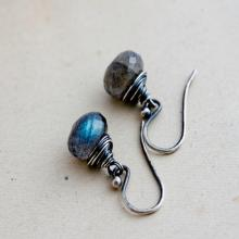 Labradorite Earrings, Drop Earrings, Labradorite Jewelry, Gemstone Earrings, Gemstone Jewelry, Dangle Earrings, Sterling Silver