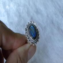 Labradorite Ring Handmade Amazing Blue Flash Gemstone Fine Sterling Silver Ring Blue Labradorite Jewelry