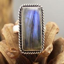 Labradorite Ring Silver Labradorite Ring, Statement Ring, Crystal Ring, Gemstone Ring, Boho Ring, Cocktail Ring