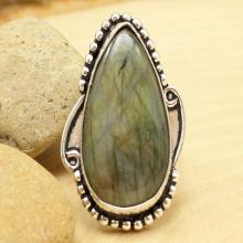 Labradorite Ring Sz 8, Silver Labradorite Ring, Statement Ring, Crystal Ring, Gemstone Ring, Boho Ring, Cocktail Ring