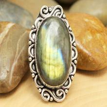 Labradorite Ring Sz Silver Labradorite Ring, Statement Ring, Crystal Ring, Gemstone Ring, Boho Ring, Cocktail Ringl