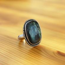 Labradorite ring, Natural labradorite ring size 7.5, Labradorite jewelry, Labradorite Statement ring, Labradorite silver Cocktail ring